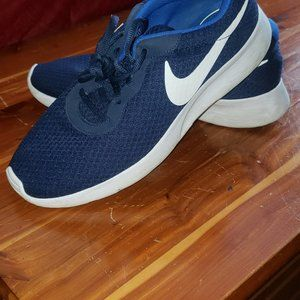 Nike Navy and White Tanjun Sneakers Men's Size 9